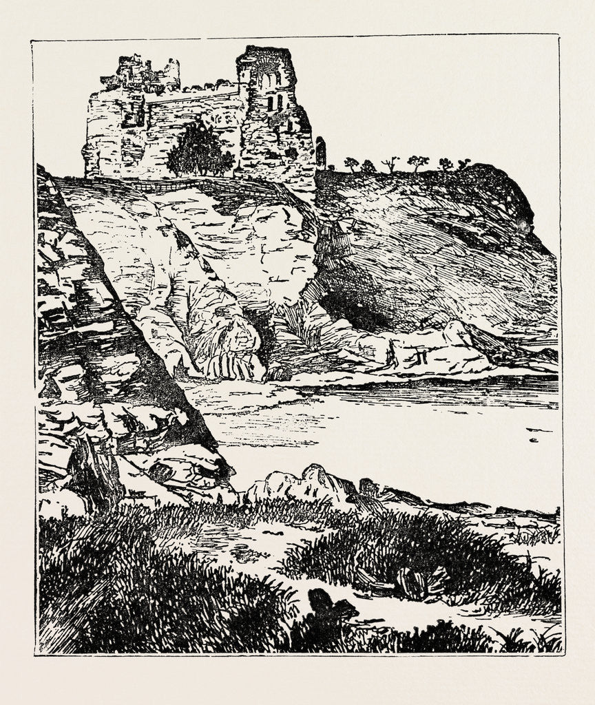 Detail of Tantallon Castle. by Anonymous