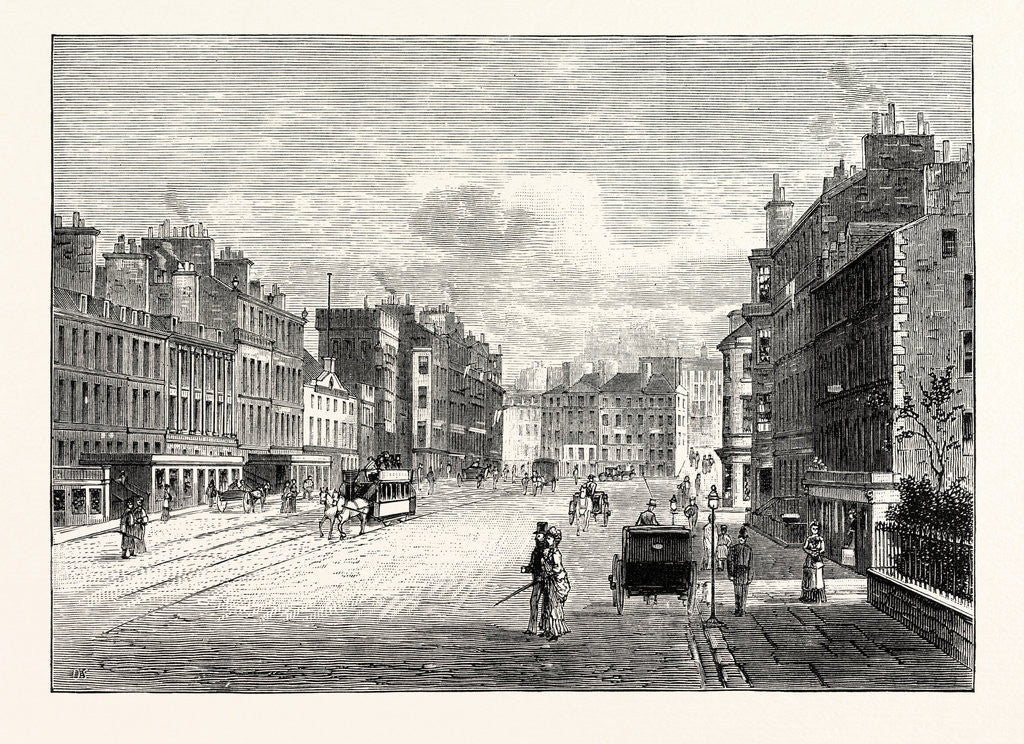 Detail of Edinburgh: Leith Walk from Gayfield Square Looking South by Anonymous