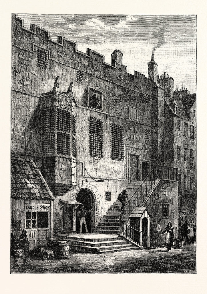 Detail of Edinburgh: The Old Tolbooth 1820 Leith by Anonymous