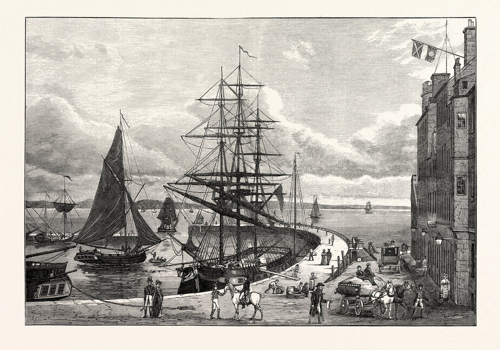 Detail of Edinburgh: Leith Pier and Harbour 1798 by Anonymous