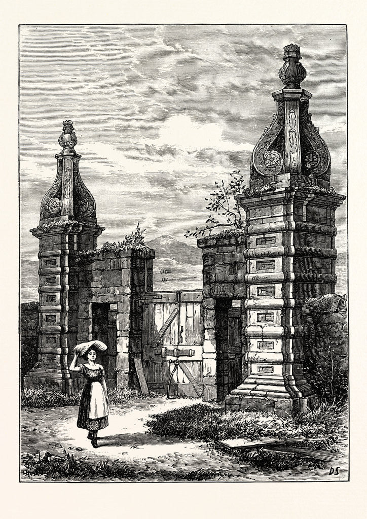 Detail of Edinburgh: Old Entrance to Royston (Now Caroline Park) 1851 by Anonymous
