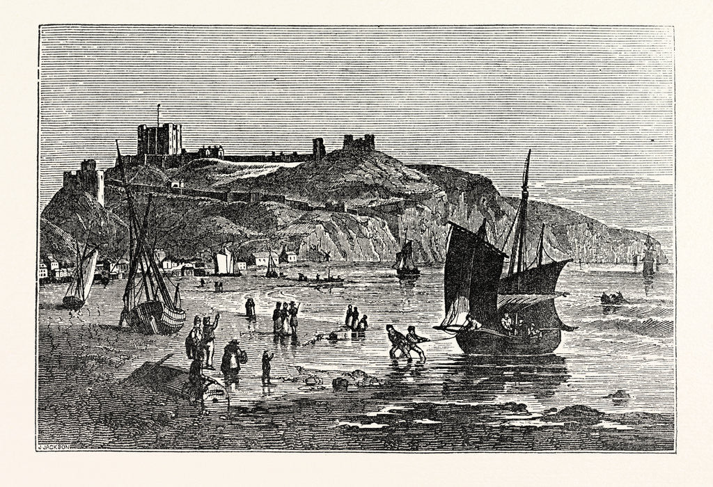 Detail of Dover Castle from the Beach Under Shakspeare's Cliff by Anonymous