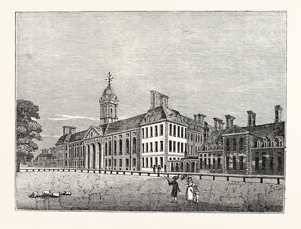Detail of North Front of Chelsea Hospital by Anonymous