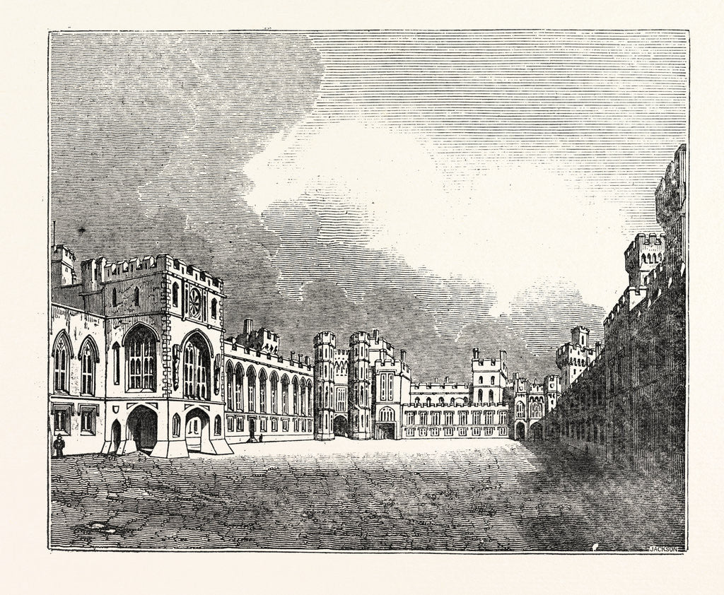 Detail of Windsor Castle Great Quadrangle by Anonymous