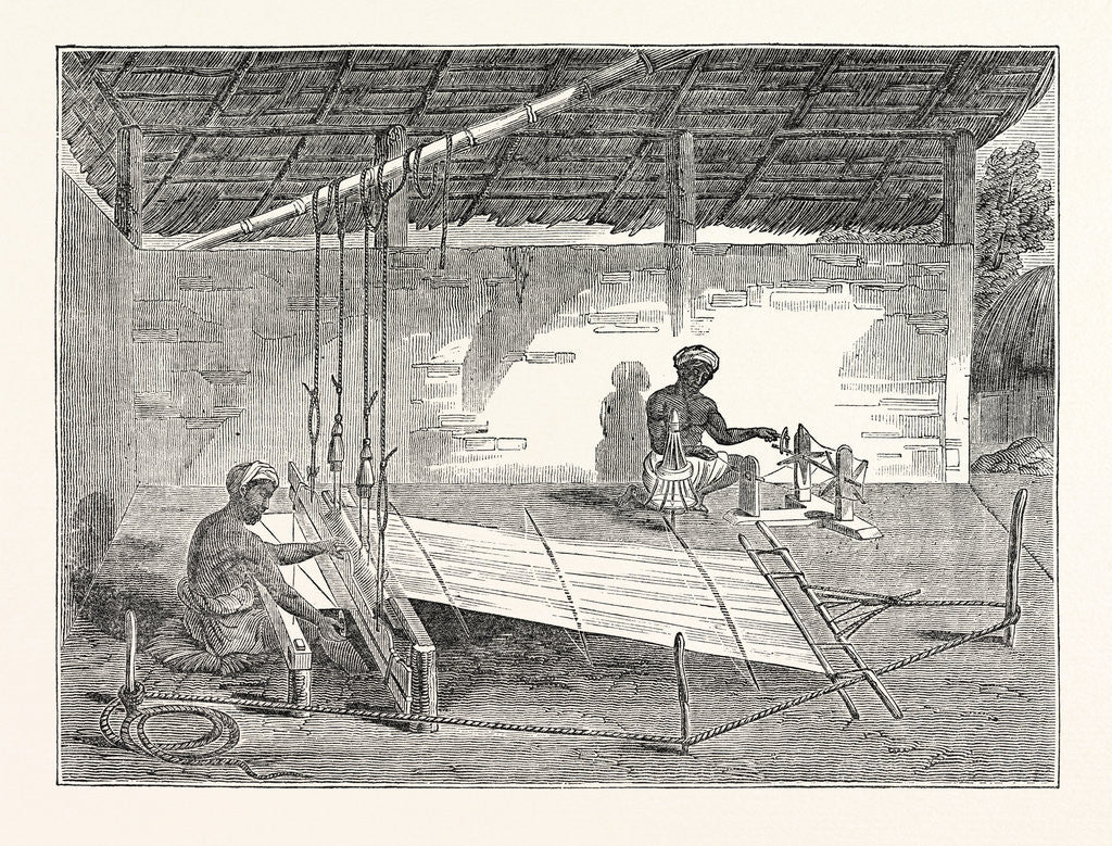 Detail of Weaving in Ceylon: Process of Weaving by the Cingalese by Anonymous