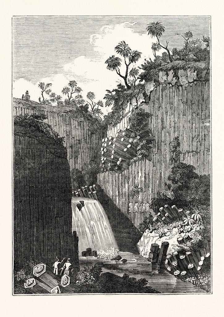 Detail of View of the Basaltic Rocks and Cascade of Regia by Anonymous