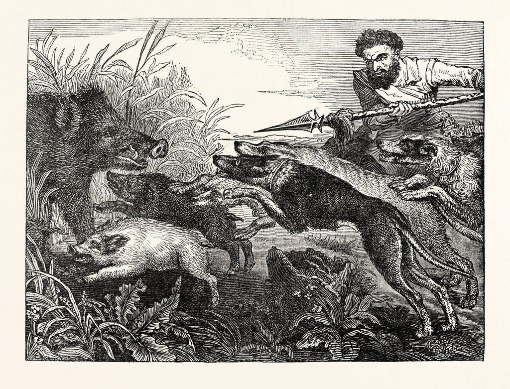 Detail of Wild Boar-Hunting by Anonymous