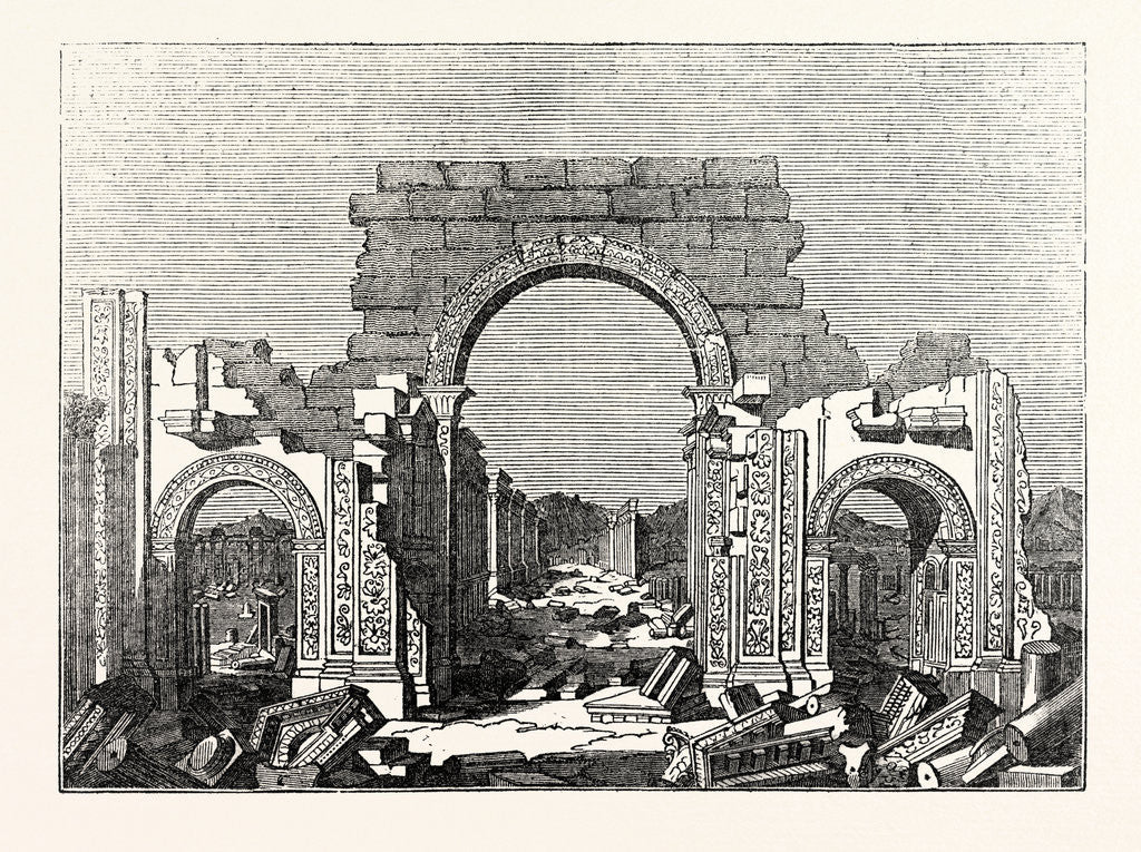 Detail of Arch at Palmyra by Anonymous
