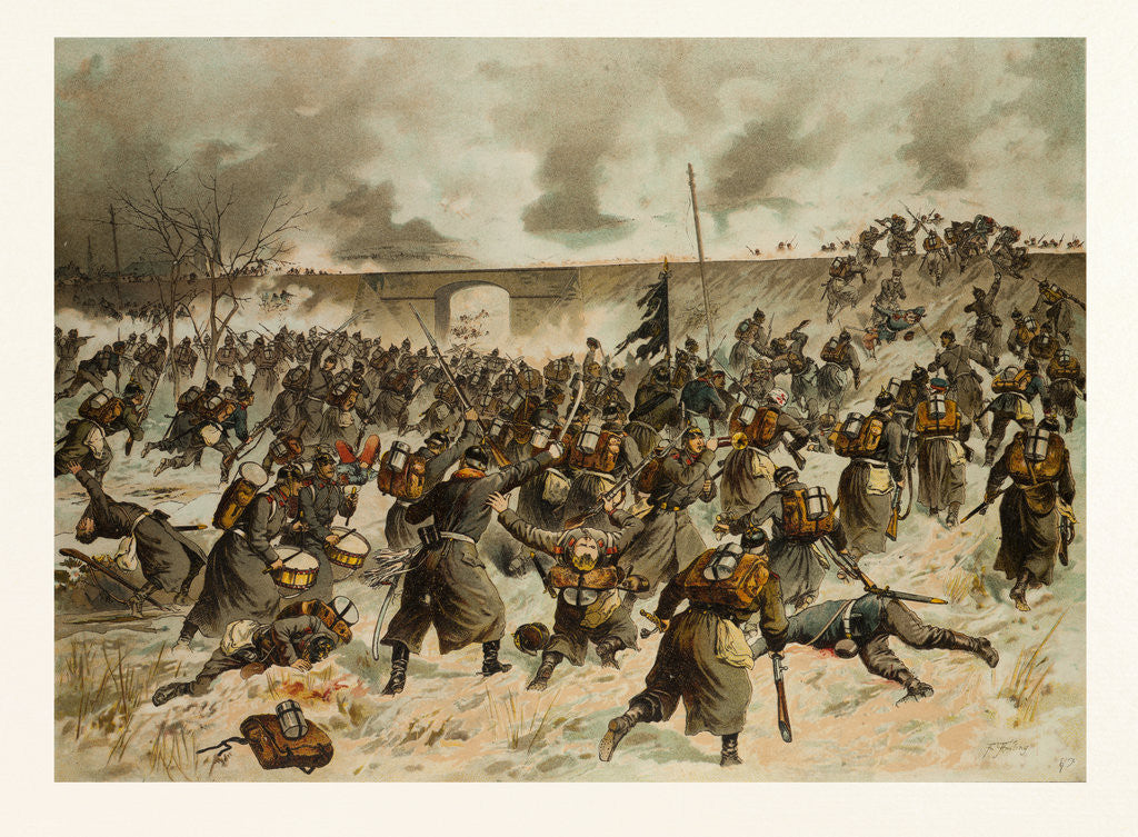 Detail of From the Battle Near Amiens on the 23rd of December 1870 by Anonymous