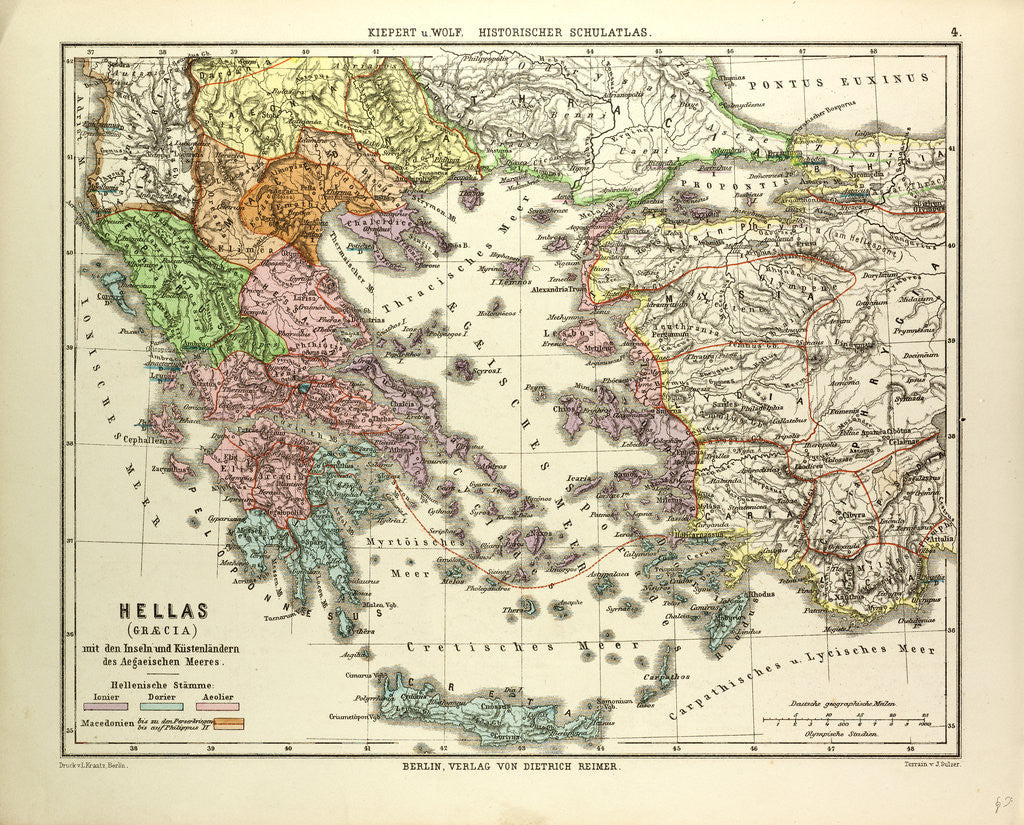 Old map of greece and crete posters prints by anonymous detail of old map of greece and crete by anonymous gumiabroncs