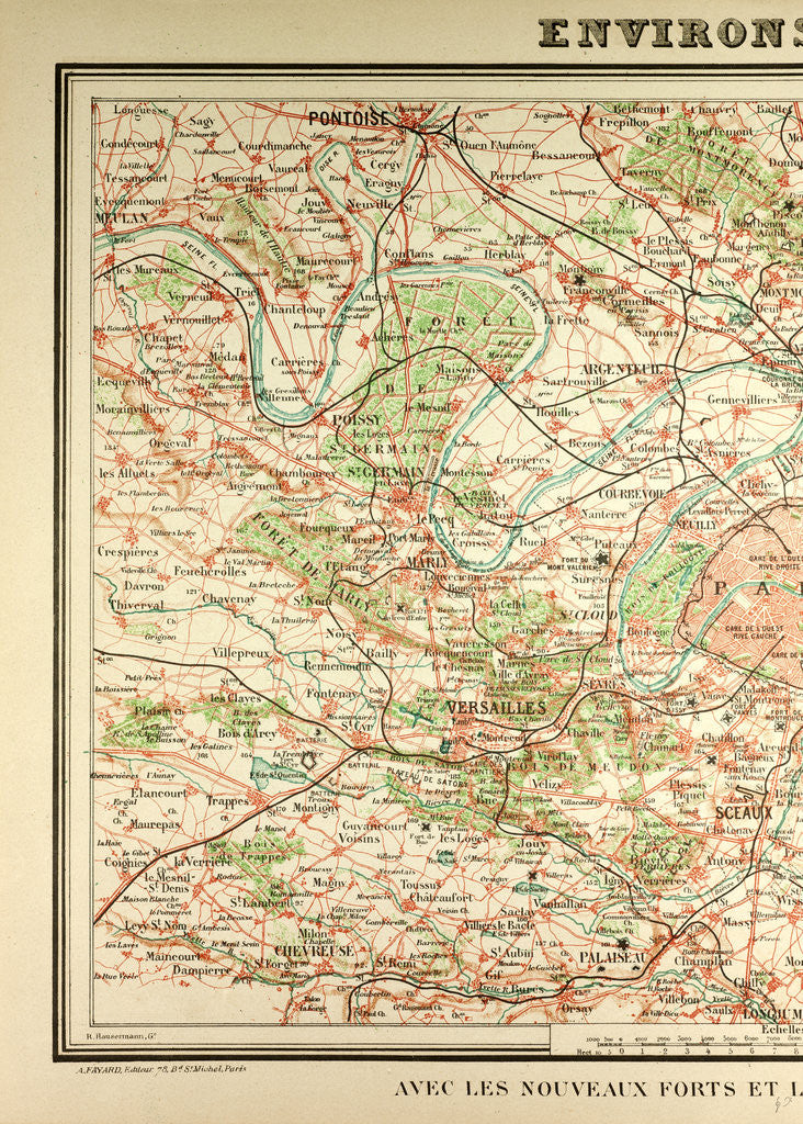 Detail of Map of Paris and Its Vicinity by Anonymous