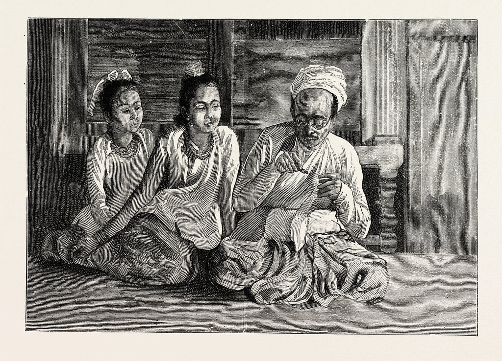 Detail of A Visit to the Doctor in Burma by Anonymous