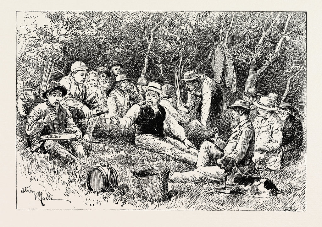 Detail of A Buck-Hunting Excursion in South Africa: Tiffin in the Bush by Anonymous