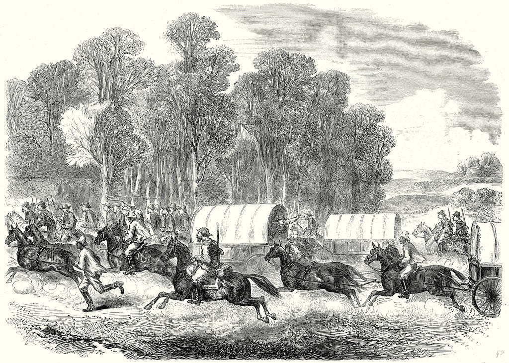 Detail of End of the American Civil War: The Last Days of the Confederate Government the Flight of the Confederates: A Sudden Alarm and Stampede 22 July 1865 by Anonymous