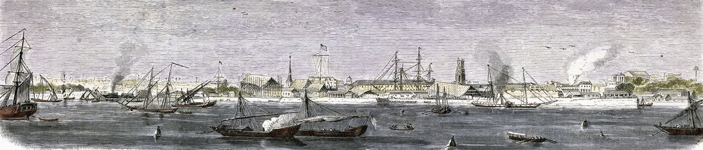Detail of The Harbor of Bombay India by Anonymous