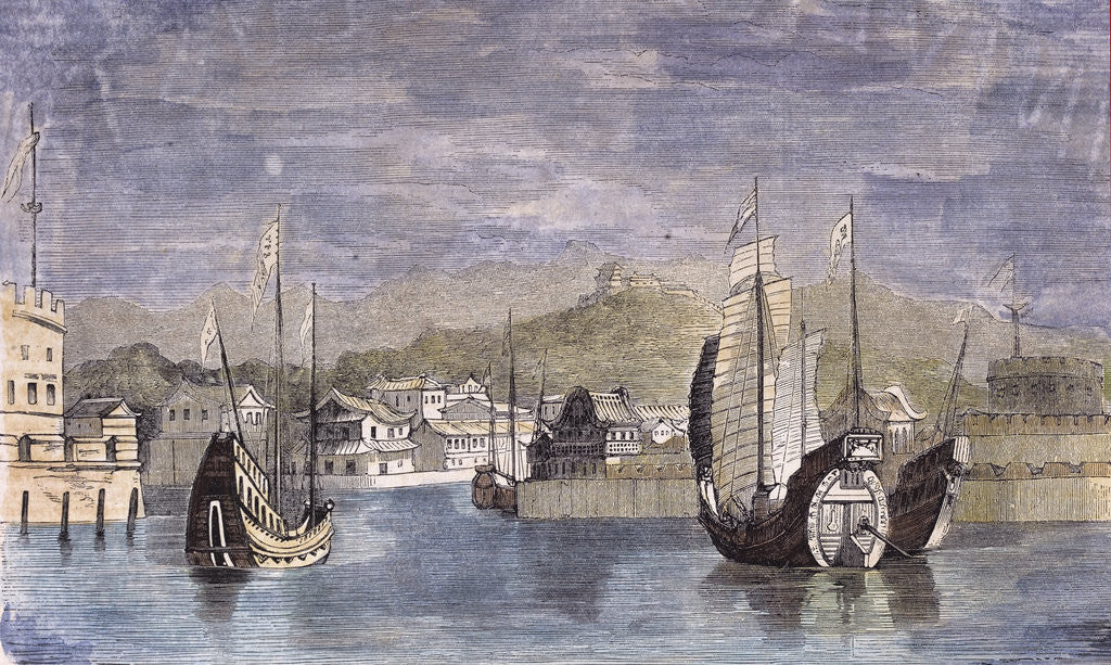 Detail of Harbor of Shang-Hai China by Anonymous