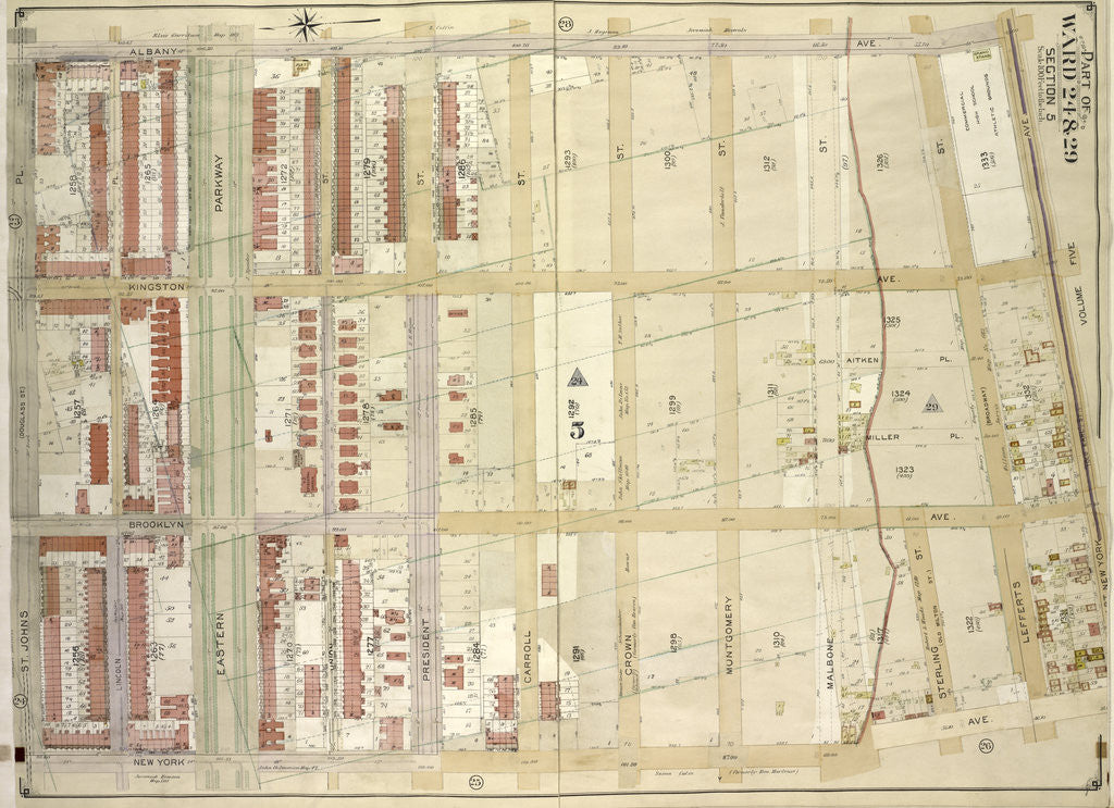 Map Of Old New York.Map Bounded By Albany Ave East New York Ave Old Earl St