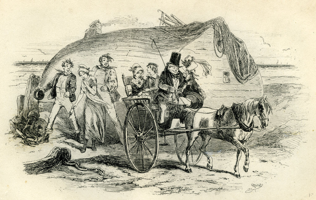 Detail of David Copperfield 'Mrs. Gummidge Casts a Damp on Our Departure' by Anonymous