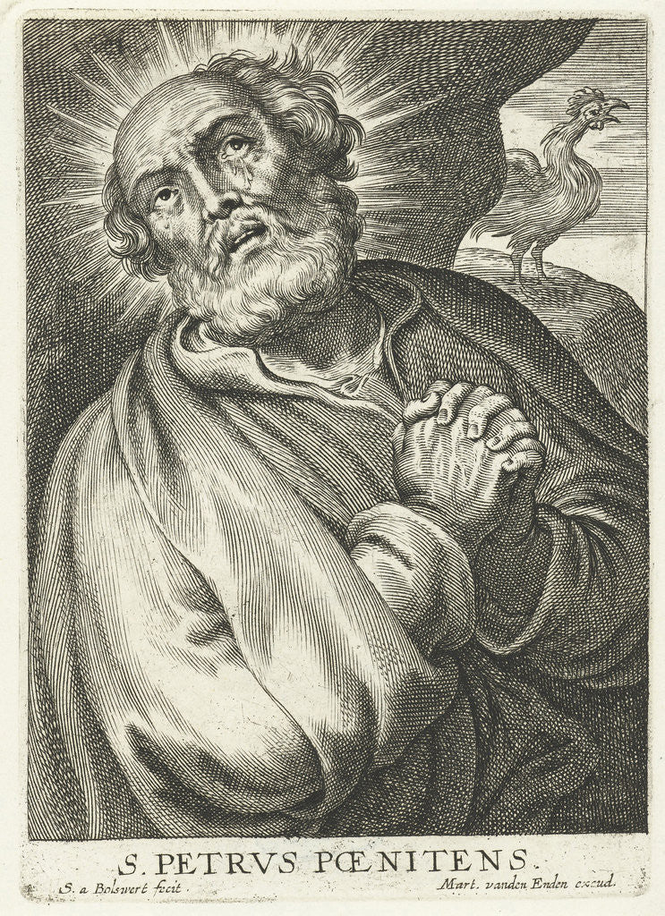 Detail of Saint Peter do penance for treason by Martinus van den Enden