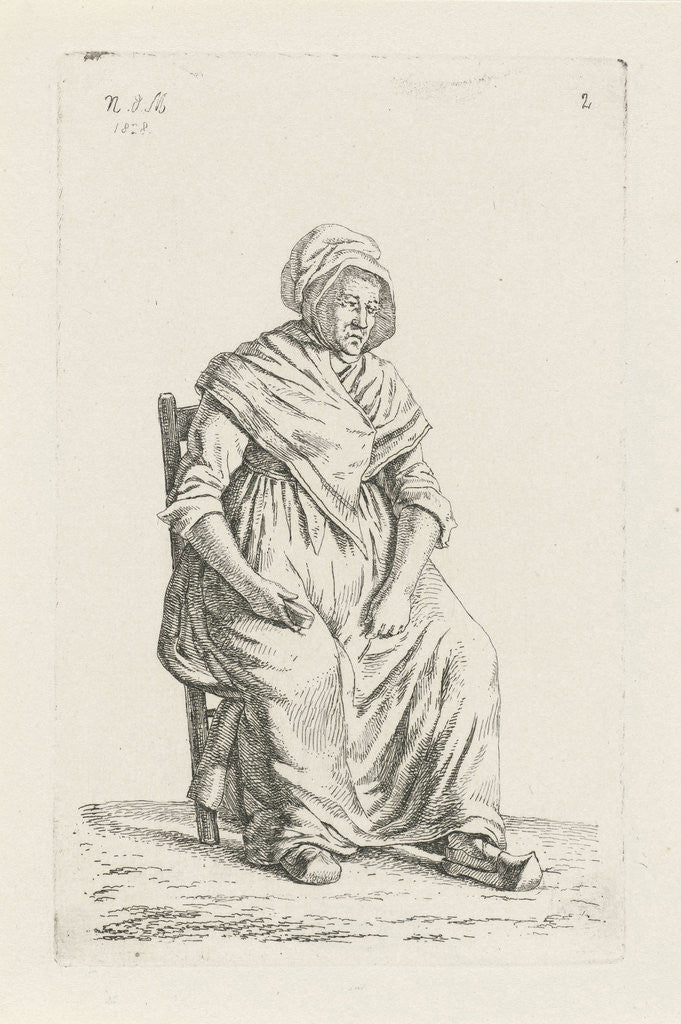 Detail of Sitting farmer from Wallonia Belgium by Anthonie Willem Hendrik Nolthenius de Man