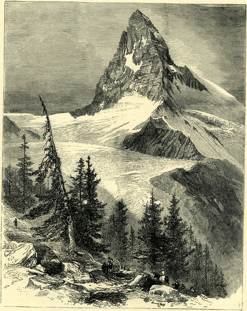 Detail of The Matterhorn Switzerland by Anonymous