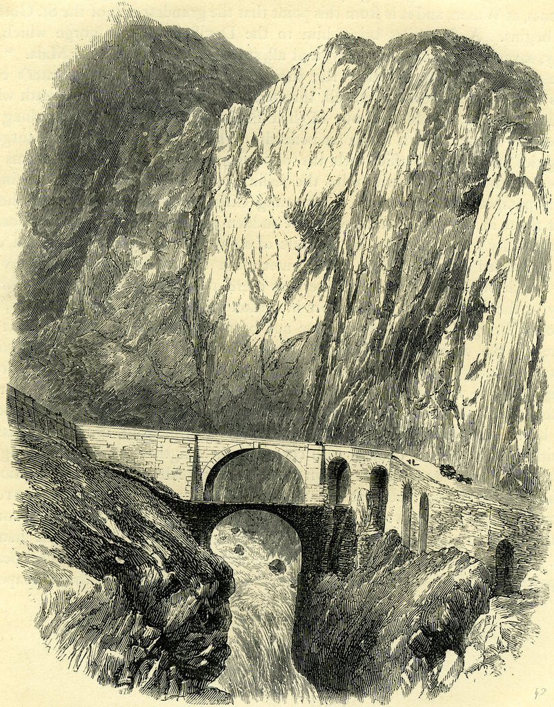 Detail of The Devil's Bridge on the St. Gothard Road Switzerland by Anonymous
