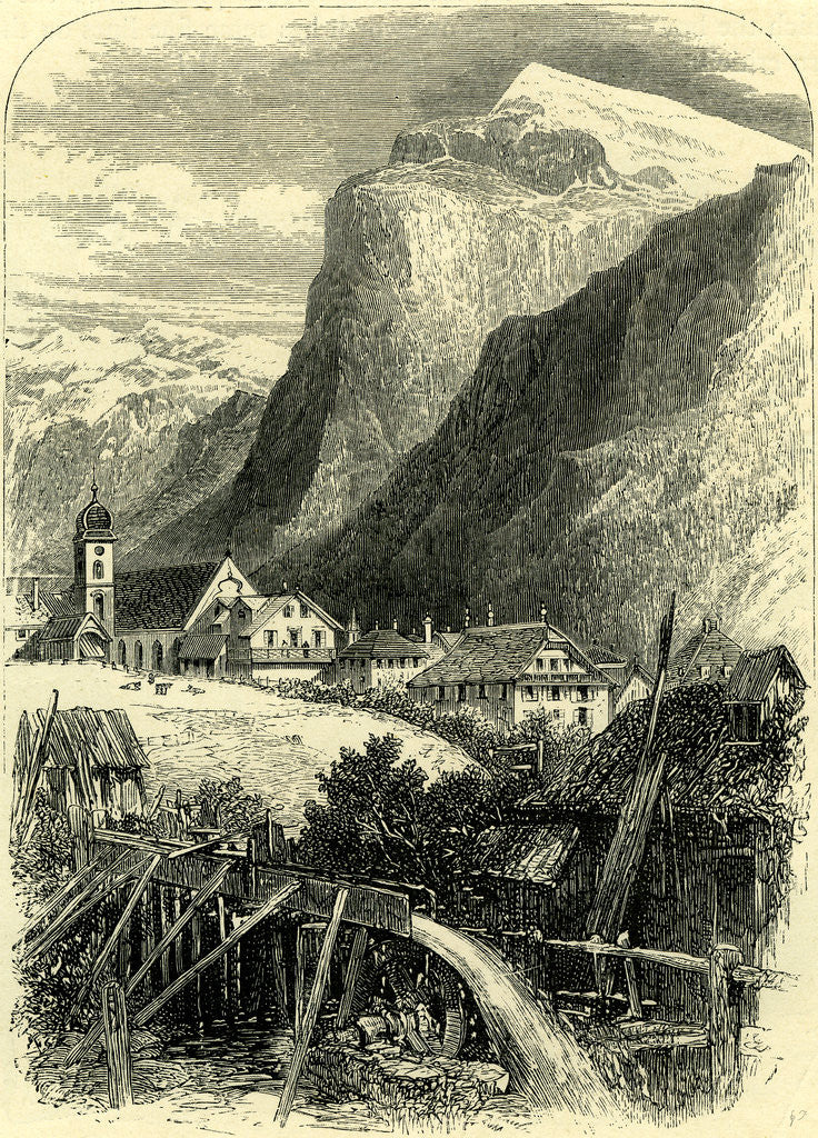Detail of Engelberg and the Titlis Switzerland by Anonymous