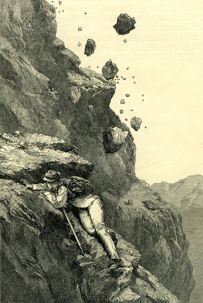 Detail of A Cannonade on the Matterhorn Switzerland by Anonymous