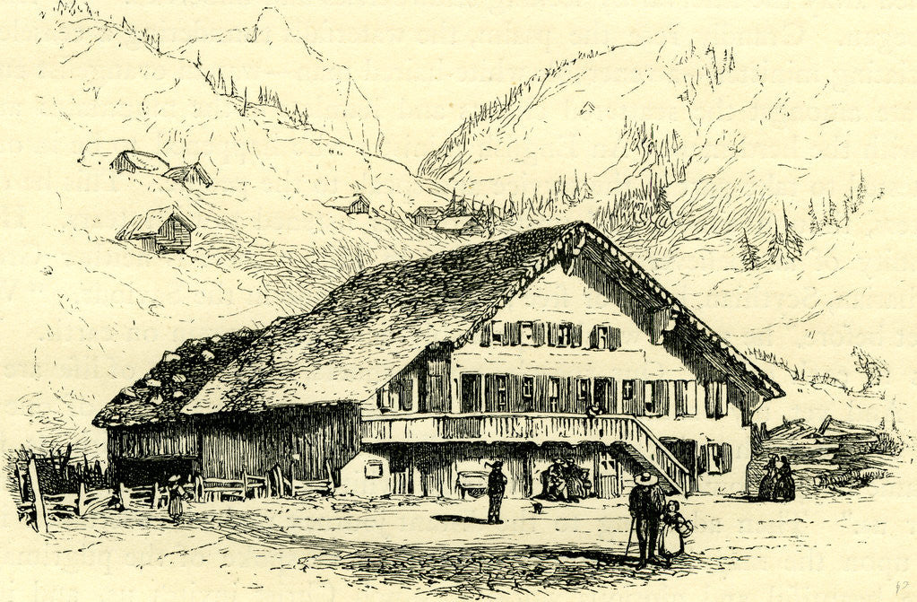 Detail of The Pension-Chalet Rougemont Switzerland by Anonymous