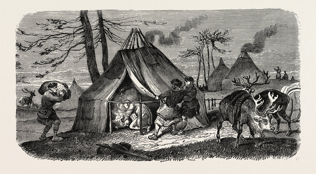 Detail of A Tungoose Encampment. by Anonymous