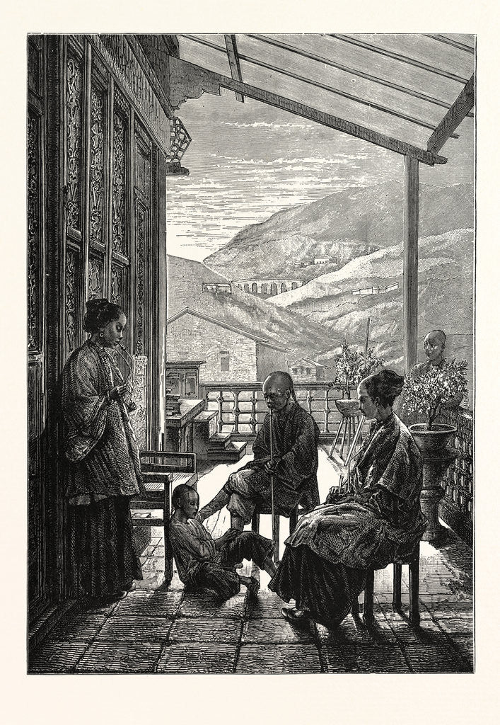 After Dinner: A Family Scene in China by Anonymous