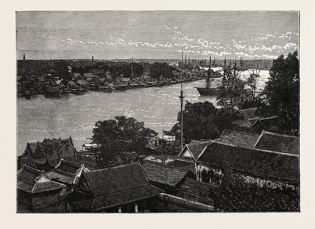 Detail of General View of Bankok and the Menam River by Anonymous