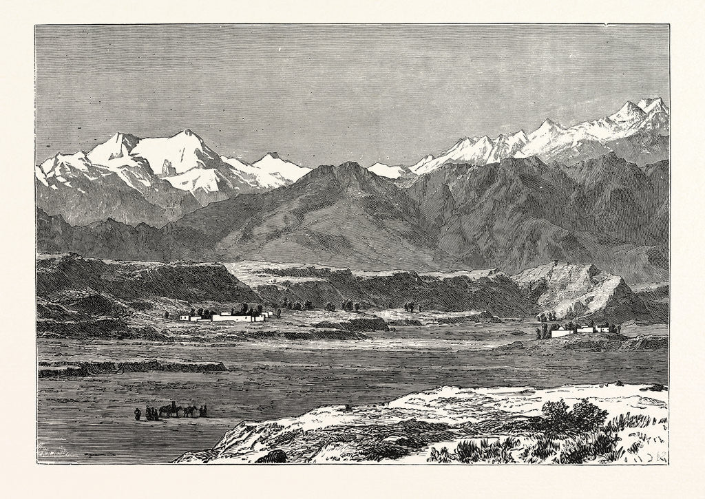 Detail of View of Yangi Hissar, at the Foot of the Pamir Chain by Anonymous