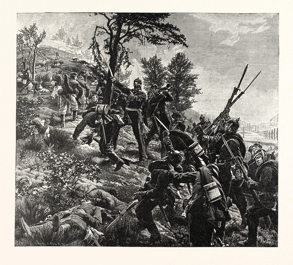 Detail of Attack on the Spicheren Mountain Led by General Francois on 6 August 1870, France by Anonymous