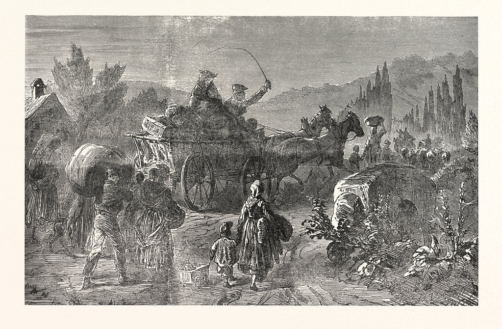 Detail of French Peasant Families on the Run, France by Anonymous