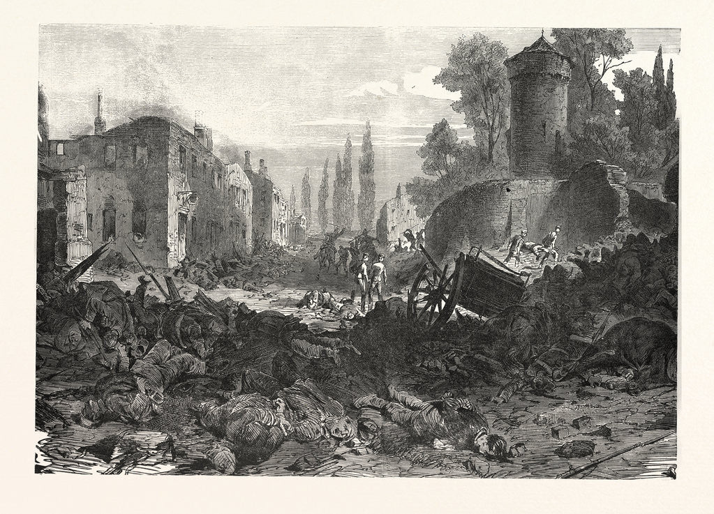 Detail of Bazeilles after the Storming by the Bavarian Forces, France by Anonymous