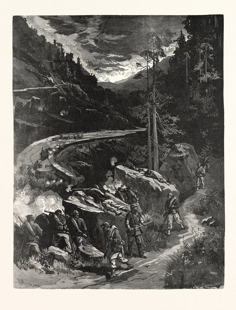 Franctireur, in the Mountain Passes Raiding a German Wagon Train, France by Anonymous