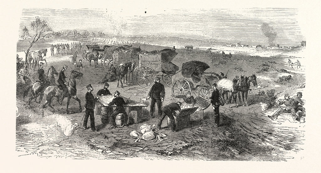 Detail of A Field Expedition Post on the Battlefield of St. Privat on 19 August 1870 by Anonymous