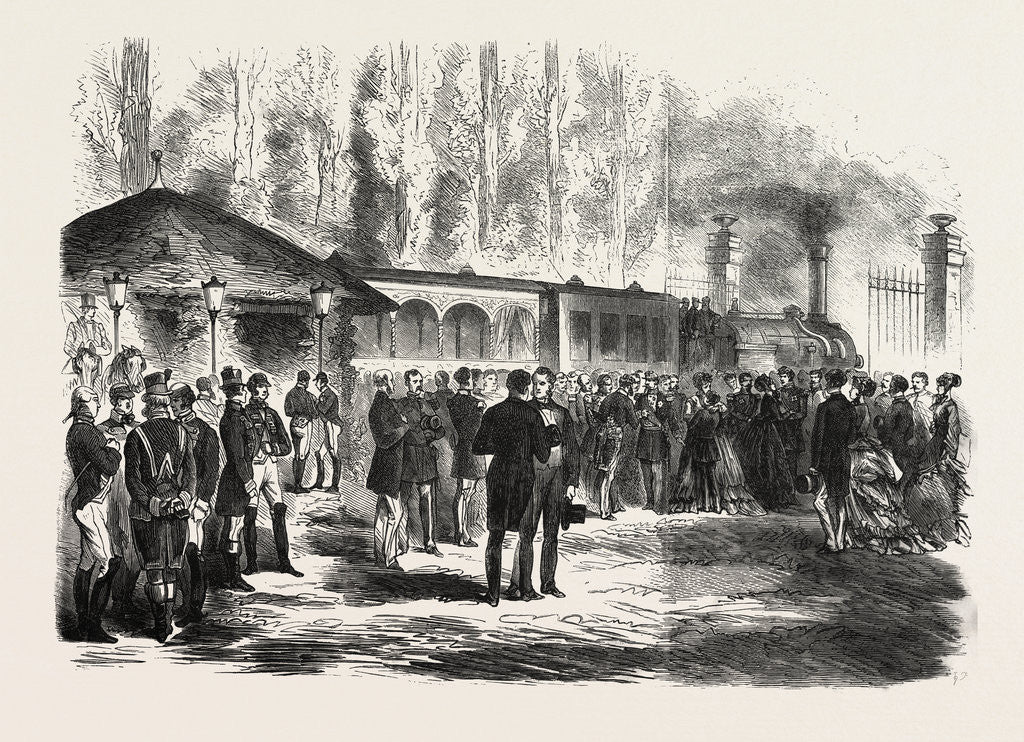 Detail of Departure of the Emperor of the French and the Prince Imperial from the Railway Station of St. Cloud, 28 July 1870 by Anonymous