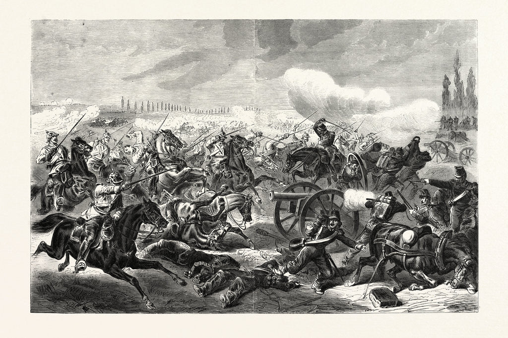 Detail of A French Battery Taken by the 7th Regiment of Prussian Mounted Cavalry Soldiers, the Battle of Mars-La-Tour on 16 August 1870 by Anonymous