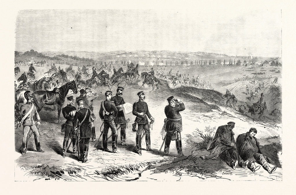 Detail of Attaque by the Saxons against Sainte-Marie-Aux-Chênes on 18 August 1870 by Anonymous