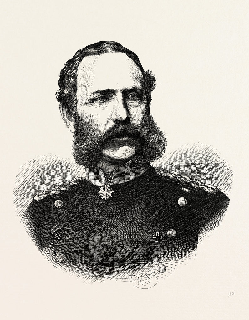 Detail of Albert, Prince of Royal Saxony, Commander of the 4th German Army (Army of the Meuse), Engraving 1870 by Anonymous