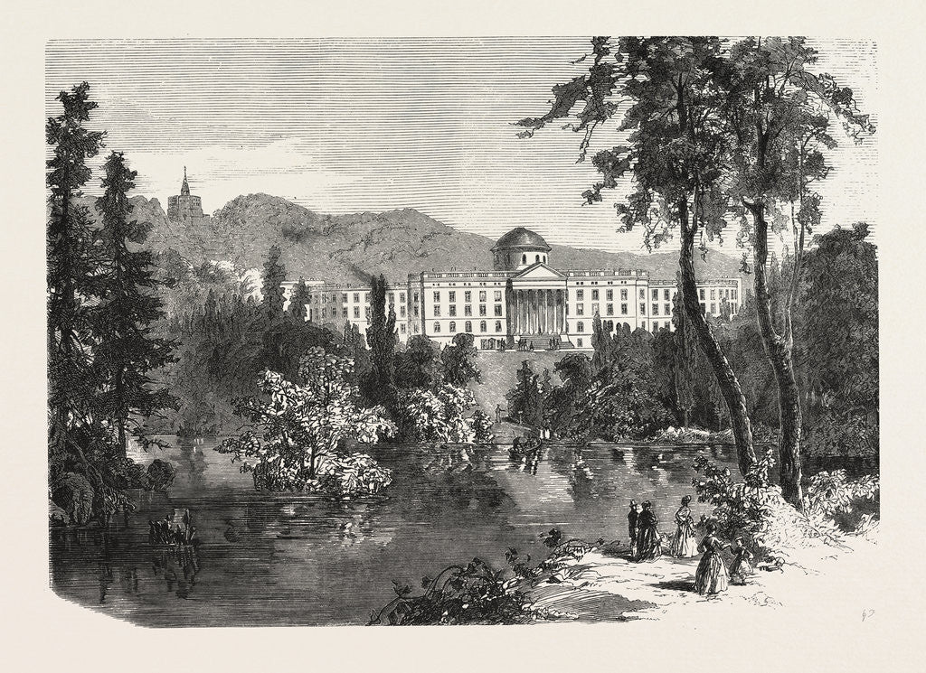 Detail of Castle Wilhelmshohe, Engraving 1870 by Anonymous