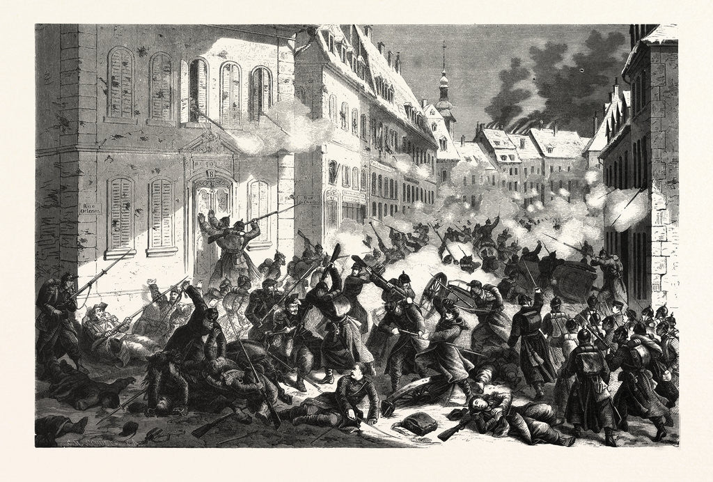 Detail of Fighting in the Streets of Mans, January 12 1870 by Anonymous