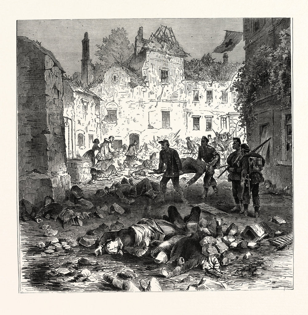 Detail of A Street of Laon after the Explosion, September 9 1870 by Anonymous