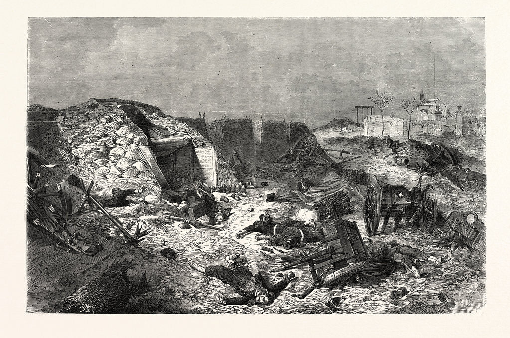 Detail of French Battery Left on Mont-Avron by Anonymous