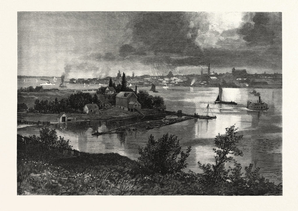 Detail of Kingston, from Barriefield, Canada by Anonymous