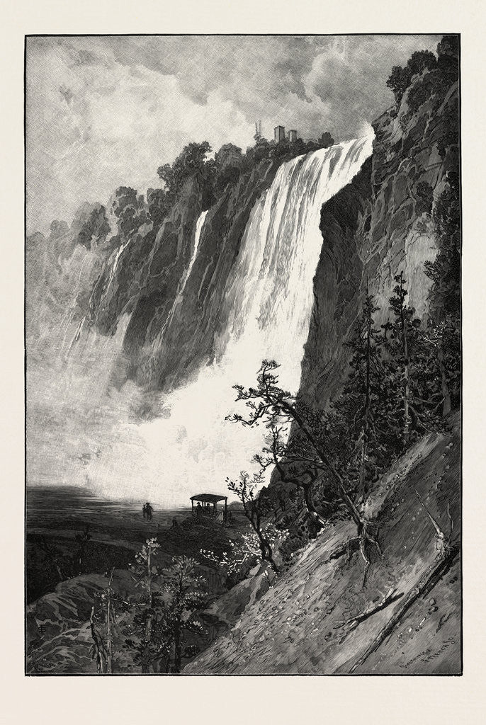 Detail of Falls of Montmorency, Canada by Anonymous