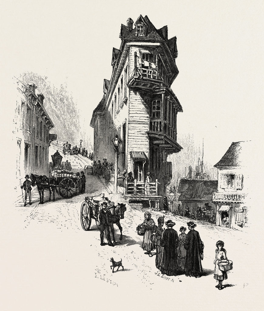 Detail of French Canadian Life, Old Houses at Point Levis, Canada by Anonymous