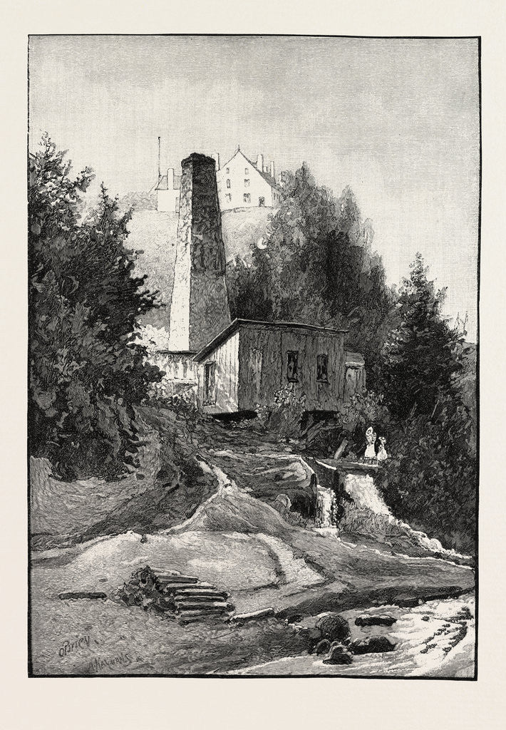 Detail of French Canadian Life, Old Chimney and Chateau, Canada by Anonymous